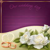 Wedding invitation card Stock Images