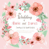 Wedding invitation card. Flower wedding invitation card, save the date card, greeting card Stock Photo