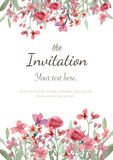 Wedding invitation card. Flower wedding invitation card, save the date card, greeting card Royalty Free Stock Image