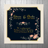 Wedding invitation card with flower Templates vintage elegant  Stock Photo