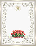 Wedding invitation card Royalty Free Stock Photos