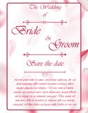 Wedding invitation card with flowers. And dividers, ideal for weddings. Pink and grey colors. Editable Royalty Free Stock Image