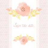 Wedding invitation card Royalty Free Stock Photography