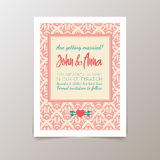 Wedding invitation card with geometric vintage Stock Photography