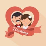 Wedding invitation card icon Royalty Free Stock Image