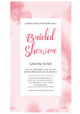 Bridal Shower Invitation Card with watercolor background. Bridal Shower Invitation Card Invitation with watercolor background. Card design for celebrate. Vector vector illustration