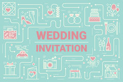 Wedding invitation card Royalty Free Stock Photography