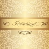 Wedding Invitation card  in luxury vintage style Royalty Free Stock Images