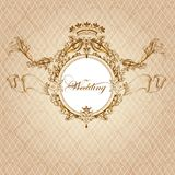 Wedding invitation card in luxury vintage style Royalty Free Stock Image