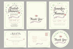 Wedding invitation card minimalist style.Flower Wreath Concept. vector illustration