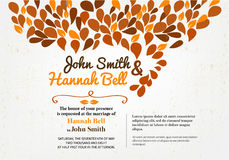 Wedding Invitation Card. With ornament Stock Images