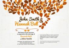 Wedding Invitation Card. With ornament Vector Illustration