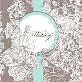 Wedding invitation card in pastel color Stock Image