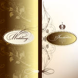 Wedding invitation card in pastel colors Royalty Free Stock Image