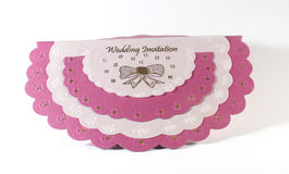 Wedding invitation card. Pink Wedding invitation card Royalty Free Stock Photography