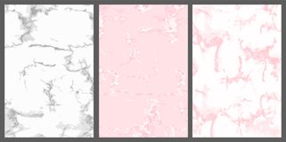 Marble cover. Pink, white and silver. Cute luxury background. For wedding invitation card, princess birthday. Abstract vintage backdrop. Realistic trendy royalty free illustration