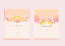 Wedding Invitation card with rings Royalty Free Stock Images