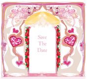 Wedding Invitation card with rings Royalty Free Stock Photos