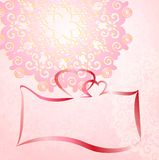 Wedding invitation card romantic ornament Stock Image
