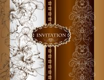 Wedding invitation card in royal style Stock Photo