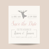 Wedding Invitation Card - Rustic Style Royalty Free Stock Photography