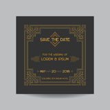 Wedding Invitation Card Stock Image