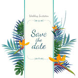 Wedding invitation card. Save the date. Royalty Free Stock Images