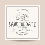 Wedding Invitation Card. Save the Date Stock Photos