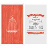 Wedding invitation card. Save the date Royalty Free Stock Photos