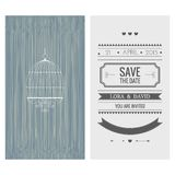 Wedding invitation card. Save the date Royalty Free Stock Photography
