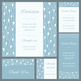 Wedding or invitation card set Royalty Free Stock Photo