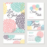 Wedding invitation card set. Royalty Free Stock Images