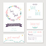 Wedding invitation card set. Stock Photo
