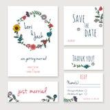 Wedding invitation card set. Stock Image