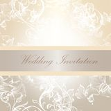 Wedding invitation card in soft colors Royalty Free Stock Images
