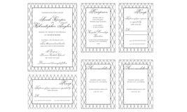 Elegant Wedding Invitation Card. With stripe background Royalty Free Stock Image