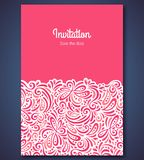 Wedding invitation card template with abstract Royalty Free Stock Image