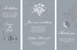 Wedding invitation. Card template with elegant pattern stock illustration