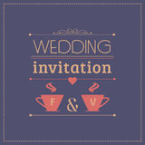 Wedding invitation card template Stock Photo