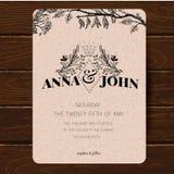 Wedding invitation card template. Stock Photo