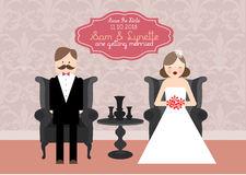 Wedding invitation card template illustration Royalty Free Stock Image