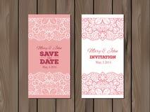 Wedding invitation, card template Stock Photos