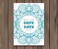 Wedding invitation, card template Stock Image