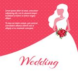 Wedding invitation or card template Stock Images