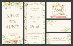 Wedding invitation card template Royalty Free Stock Image
