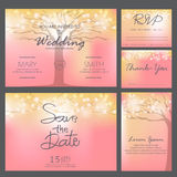 Wedding invitation card template, vector Royalty Free Stock Images