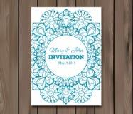 Wedding invitation, card template Royalty Free Stock Photos