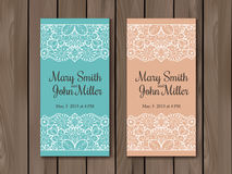 Wedding invitation, card template Stock Images