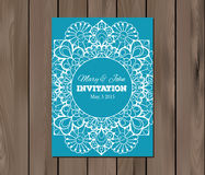 Wedding invitation, card template Stock Photography