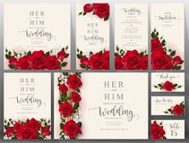 Wedding Invitation Card Templates . Royalty Free Stock Images